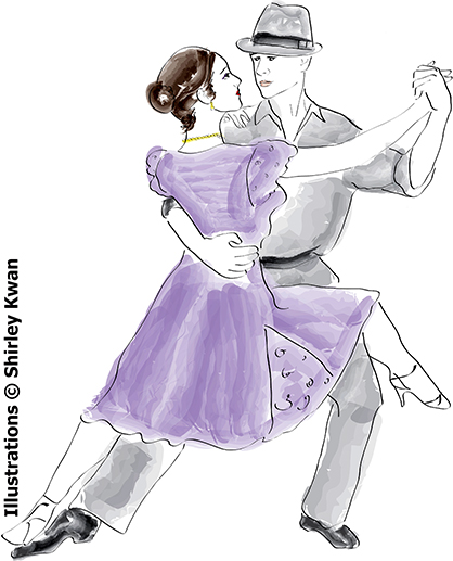 Duet Tango Illustration by Shirley Kwan